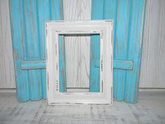 Distressed White Frame Upcycled Vintage Frame by hensnesttreasures, $15.00