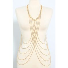 Metallic Criss Cross Body Chain