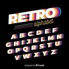 Alphabet 3d, Style Alphabet, Alphabet Templates, Alphabet Design, Typography Inspiration, Graphic Design Inspiration, Typography Design, Typography Logo, Lettering Tutorial