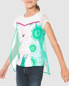 Camiseta de niña Desigual con print de Frozen