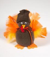 Sock Turkey Thanksgiving Bible Craft