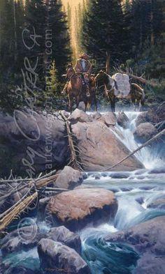 Gary Carter Gary Carter, Longhunter, American Frontier, Cowboy Art, Etched Glass, Mountain Man, Cool Paintings, Western Art, Native American Art