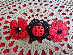 I just listed Ladybug and Red Meadow Flower Barrette on The CraftStar @TheCraftStar #uniquegifts