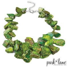 Jasper Necklace - Park Lane Jewelry 364 dollars. As low as 88 dollars with the Park Lane Sale. www.myjewelryparty.tumblr.com