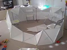 build kids play house with triangles corruplast - Google Search
