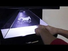 Make your own 3d hologram projector using CD case & smartphone - YouTube