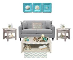 """""""Life Is Better At The Beach House"""" by majezy ❤ liked on Polyvore featuring interior, interiors, interior design, home, home decor, interior decorating, Safavieh, Pier 1 Imports, Fitz & Floyd and Shoreline"""
