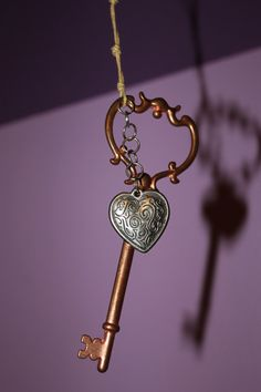The Key To My Heart Necklace by EwelinaPas on Etsy, $15.00