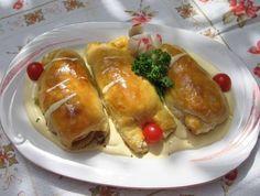 Recepti za svaki dan: Punjena piletina u lisnatom tjestu Dan, Favorite Recipes, Bread, Chicken, Food, Nice, Brot, Essen, Baking