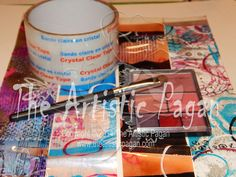 Packing Tape Gelli Prints