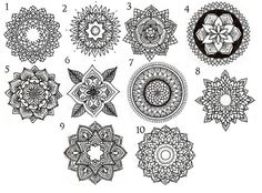 mandala circle tattoos More