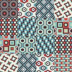 adesivo azulejo 0200 Textures Patterns, Fabric Patterns, Print Patterns, Jar Packaging, Background Tile, Motif Vintage, Simple Prints, Retro Pattern, Graphic Patterns