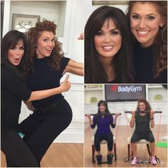 Marie Osmond and Albany Irvin at QVC with the BodyGym