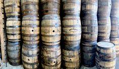 Whiskey Barrels - Reclaimed Kentucky Bourbon Whiskey Barrels - Full Size 53 Gallon Kentucky Barrels - Wooden Cask For Sale - Oak Barrels Bourbon Whiskey, Whiskey Barrels, Jack Daniels Barrel, White Oak Barrels, Buffalo Trace, Barrel Table, Barrel Furniture, Jim Beam, Wine Cellar