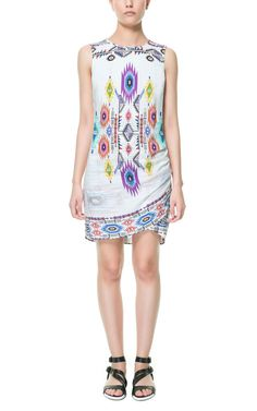DRAPED NECK PRINTED DRESS - Stock clearance - TRF - Sale | ZARA United States