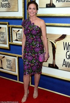 Worth writing home about: Diane Lane stole the show at the Writers Guild Awards in Los An...