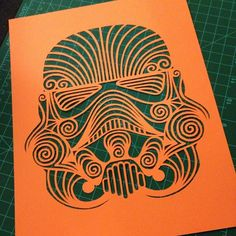paper cut stormtrooper by Alia Syed #papercutting #paperart #scherenschnitte #starwars #stormtrooper