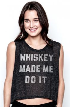 whiskey made me do it crop top