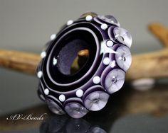 AV-Beads handmade Lampwork Donut bead SRA. €34.00, via Etsy.
