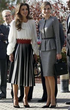 Rania de Jordania en Madrid, bello outfit