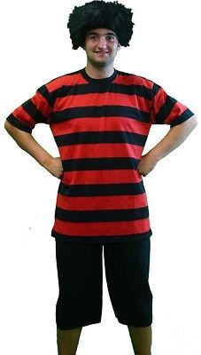 Details about Halloween-Fancy Dress-Stage-World Book Day DENNIS THE MENACE  COSTUME   WIG c8d03edac