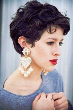 Curly Pixie Hairstyles Images                                                                                                                                                      Plus