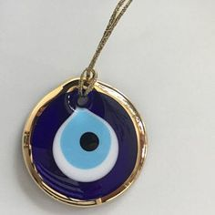 Grec Pendentif Mauvais Oeil Charm MAUVAIS ŒIL collier pendentif sur noir cordon