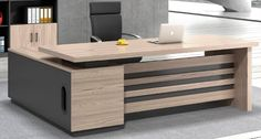 Office Table Design, Office Furniture Design, Office Interior Design, Office Interiors, Wooden Partition Design, Wooden Partitions, Doctors Office Decor, Luxury Office, Kitchen Cabinet Design