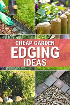 Five cheap garden edging ideas you can use in your garden and home landscape will make your outdoors look amazing. via @mystayathome Garden Edging, Garden Beds, Front Yard Landscaping Pictures, Rock Edging, Above Ground Garden, Edging Ideas, Landscape Plans, House Front