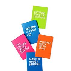 Because who doesn't love neon?? Neon Journal - I'm a Customer Service Rock Star