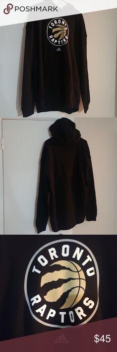 Toronto Raptors Hoodie BRAND NEW NEVER WORN Black Toronto Raptors hoodie with Raptors logo on front Adidas Sweaters