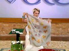 Artesanato: lenço de seda - YouTube