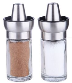 Elegant Design Salt and Pepper Shakers - Bowl Top Glass Seasoning Bottle 3oz - 2 Pc Set - Home Decor Salt and Pepper Shaker 2 x 4.5 inches >>> Wow! I love this. Check it out now! : Salt Pepper Shaker