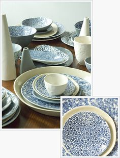 Floralware Range - each piece is decorated with Japanese tissue transfers and hand polished for a luscious satin feel.