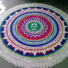 Rangoli Photos, Rangoli Designs Latest, Simple Rangoli Designs Images, Rangoli Designs Flower, Colorful Rangoli Designs, Rangoli Designs Diwali, Flower Rangoli, Rangoli Colours, Rangoli Patterns