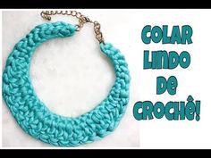 COLAR DE CROCHÊ LINDO, FEITO EM APENAS 2 CARREIRAS! - YouTube