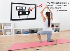 Perfect solution for home yoga!! I would like to buy one! We can get 10% off when buy both one piece yoga mat and TV mount http://www.zosomart.com/tripods-tv-accessories/tv-mount/6-yoga-mat-articulating-single-arm-tv-mount.html