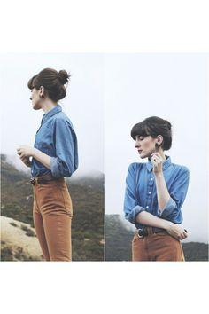 "Light Brown American Apparel Pants   ""Mountain Adventure"" by kianamccourt"