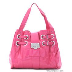 Love, love pink handbags. This is by Jimmy Cho. Sincerely, JoAnne Biddy Craft