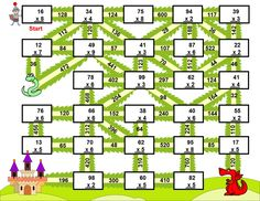 Multiplication with numbers between 0 and 99 (Fun Worksheets / Mazes) Teacher Classroom Decorations, Math Classroom, Classroom Themes, Maths, Maze Worksheet, Fun Worksheets, Third Grade Math, Fourth Grade, Activities For Kids