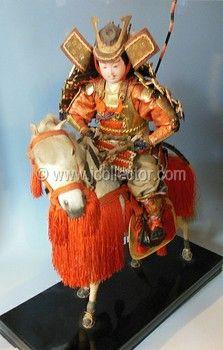 Japanese samurai warrior doll at www.Jcollector.com