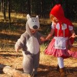 Brother and sister Halloween costume idea. Little Red Riding Hood and the Big Bad Wolf- Mom will be the Grandma and Dad the Huntsman. #familycostumes