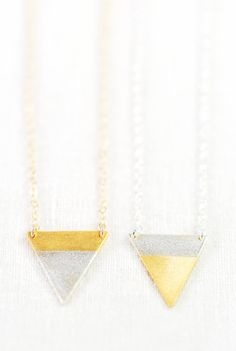 Alepo'i necklace - gold triangle necklace, gold necklace, https://www.etsy.com/listing/170085144 kealohajewelry maui, hawaii