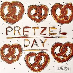 #pretzel #baking #pretzelday #art #drawing #promarker