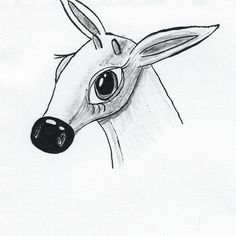 https://flic.kr/p/A3nKWN | Inktober Day 20 Deer doodle | Playing around in my sketchbook doodling, this little girl popped up :)
