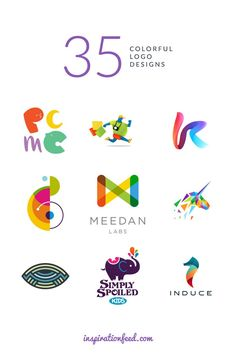 35 Attractive and Colorful Logo Designs - http://inspirationfeed.com/inspiration/logo-inspiration/35-stunning-examples-of-colorful-logo-designs/