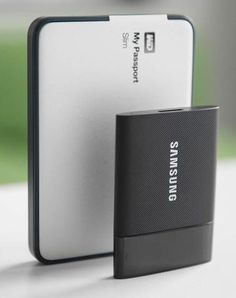 Samsung's tiny 1TB SSD portable hard drive is stylish, quick and secure. Perfect for people who work on the go.