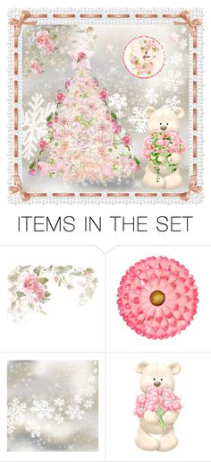 """Pink Christmas"" by jeannierose ❤ liked on Polyvore featuring art"