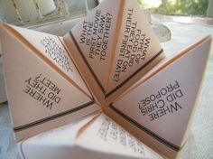 Cootie Catchers Origami Wedding Favors DESIGN ONLY by katskrafts