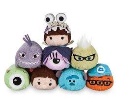Disney Tsum Tsum Monsters University Mike Sullivan Roz Mini Plush Toy With Chain
